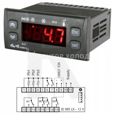 В наличии и под заказ электронный контроллер eliwellid 985 lx
