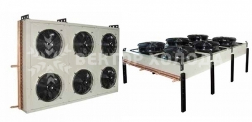 В наличии и под заказ конденсаторы воздушного охлаждения i-cold icek v/h 14.50 b1 2,1